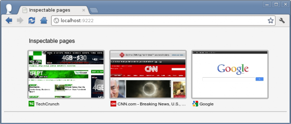Chrome makes it easy to remotely debug from your mobile devices.